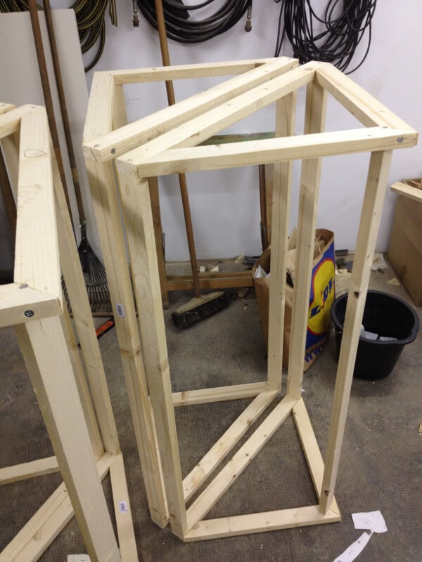 Bassabsorber Superchunks selbst bauen - Holzrahmen 2