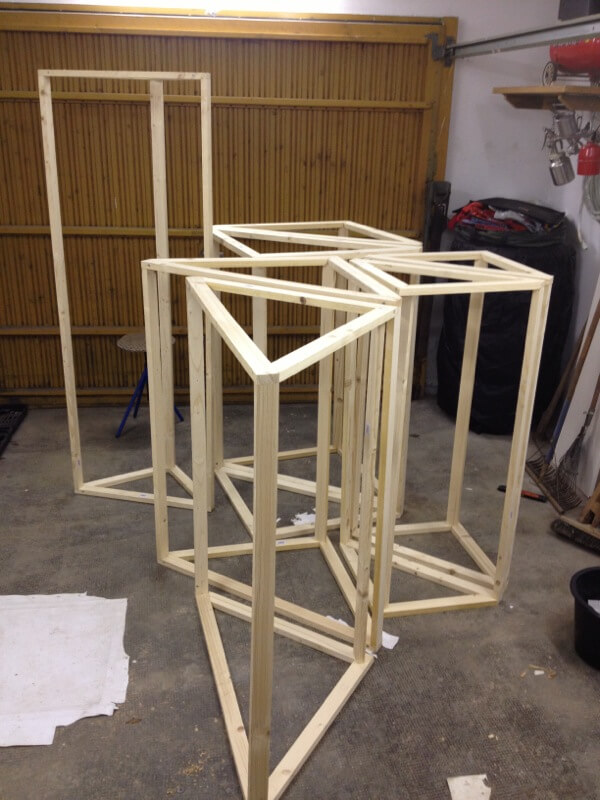 Bassabsorber Superchunks selbst bauen - Holzrahmen 3