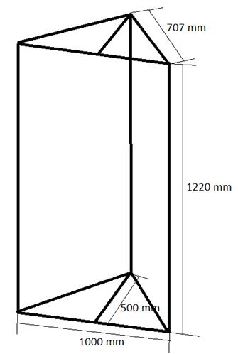 Bassabsorber Superchunks selbst bauen - Zeichnung Rahmen hinten