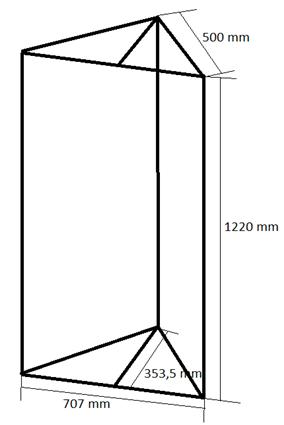 Bassabsorber Superchunks selbst bauen - Zeichnung Rahmen vorne links
