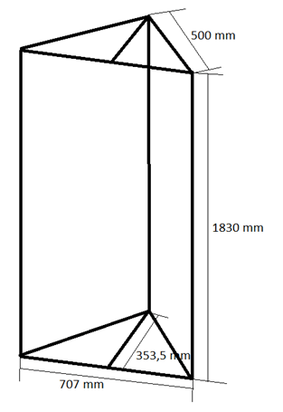 Bassabsorber Superchunks selbst bauen - Zeichnung Rahmen vorne rechts